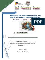 Módulo de Implantación de aplicaciones Informáticas de Gestión