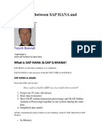 Differences Between SAP HANA and S4HANA