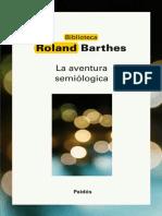 Barthes La Aventura Semiotica