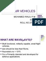 Micro Air Vehicles Seminar1