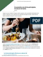 Comer de Más Aumenta La Densidad Del Tejido Mamario