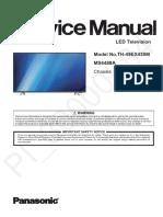 схема и сервис мануал на английском panasonic th-49ex430m шасси ms6488a