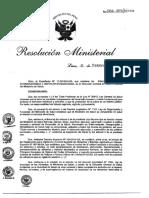 NORMA N.° 066-2015-MINSA sobre Almacenamiento de Alimentos terminados destinados al consumos hu