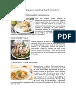 Recetas de Pollo y Otros