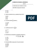 Formativa Matematica 5to Basico - Decimales - Areas - Perimetros