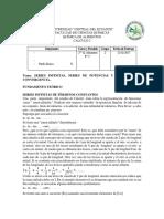 SERIES INFINITAS, SERIES DE POTENCIAS Y CRITERIOS DE CONVERGENCIA.