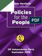 UKIP Manifesto Sept 2018