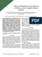 Prácticas de Ingeniería de Requisitos en Las Empresas de Desarrollo de Software, En La Ciudad de Quito - Ecuador