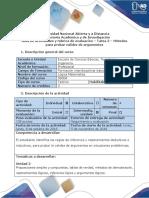 Guía de Actividades y Rúbrica de Evaluación – Tarea 2 – Métodos Para Probar Validez de Argumentos