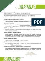 FAQ - RWMF2018