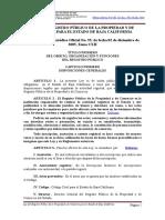 Ley Del RPPC de Baja California