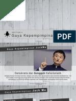 Gaya Kepemimpinan Jack Ma