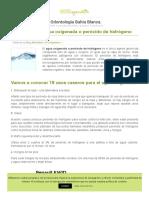19 usos del agua oxigenada/peroxido