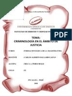ULADECH Criminología en El Ámbito de Justicia