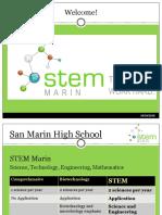 stem marin 8th grade family night