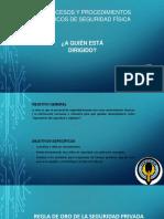 Procesos y procedimientos básicos de guardias de seguridad fisica