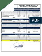 Anexo 05 Presupuesto SSO