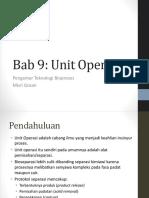 Bab 9 Unit Operasi