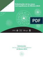 Delimitación de Las Zonas Metropolitanas 2015