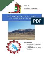 Informe de Salida de Campo de Geologia Historica