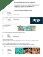 Prueba Ciencias Naturales Cuarto Ecosistemas