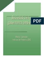 Sociedad Civil y Gobernanza Ambiental