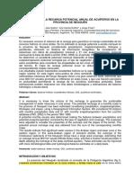 ESTIMACIÓN DE LA RECARGA POTENCIAL ANUAL DE ACUÍFEROS EN LA PROVINCIA DE NEUQUÉN