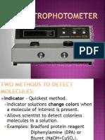 Spectrophotometer Converted