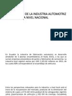 Diagnóstico de La Industria Automotriz a Nivel Nacional