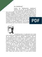 Trabajo Sobre Filosofia de Descartes