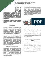 Principio de funcionamiento de una turbina de vapor