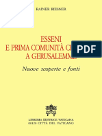 Rainer Riesner-Esseni e Prima Comunità Cristiana a Gerusalemme. Nuove Scoperte e Fonti-Libreria Editrice Vaticana (1998)