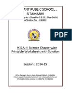 Doc 902B B.P.S. IX S.a. II Science Chapterwise 5 Printable Worksheets With Solution 2014 15