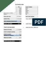 Costos Fijos y Pto Equilibrio