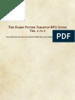 Harry Potter Tabletop RPG Guidebook Ver. 3.75.5
