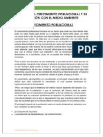 IMPACTO DEL CRECIMIENTO POBLACIONAL