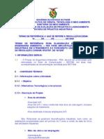Termo de Referência  de projetos industriais