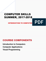 Introduction to It 2018
