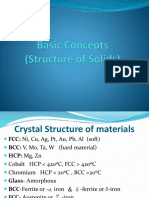 Ch-27.1 Basic Concepts on Structure of Solids