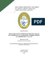 EFECTO DE LOS EM, TIPOS DE SUSTRATOS Y RAZAS DE LOMBRIZ EN LA CALIDAD DEL LOMBRICOMPOST EN PREDIOS DE LA UAC-CP.