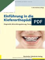 [DZÄV] Kahl-Nieke, Einführung in Die Kieferortopädie_ Diagnostik, Behandlungsplanung, Therapie (2010)