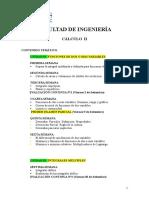 Temario Cálculo II 2016-II-tarde
