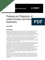 Pobreza en Palestina