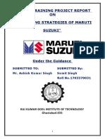 l Marketing Strategiesof Maruti Suzuki