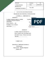 CD 8.5.1 Curriculum Chirurgie Generala
