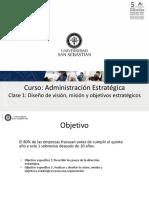 Clase 1 - Diseño de Visión, Misión y Objetivos Estratégicos