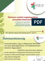 Dr Szeitzné Dr Szabó Mária_Élelmiszer Eredetű Megbetegedések