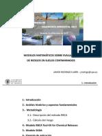 Modelos de evaluación de riesgo en suelos conaminados