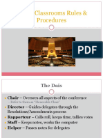 part i rules and procedures