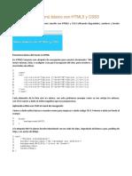 Como Crear Un Menú Básico Con HTML5 y CSS3